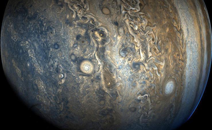 Las preciosas imágenes de Júpiter captadas por la NASA