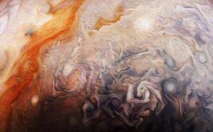 Parecen cuadros: las preciosas imágenes de Júpiter captadas por la NASA