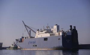 El Bahri Jazan carga armamento en Motril