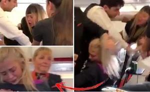 Salvaje pelea en el avión rumbo a España: tres amigas toman vodka y se arrancan el pelo
