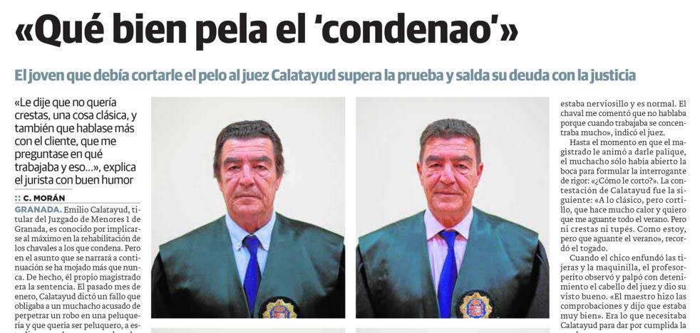 El juez Calatayud vuelve a la peluquería