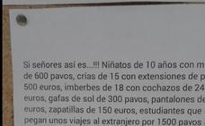 El cartel en la consulta de un médico que da la vuelta a España: «Malcriamos a nuestros hijos»