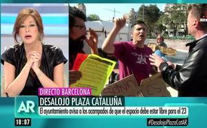 Un activista catalán irrumpe en el directo de Ana Rosa y le dirige graves insultos