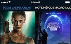 Con un click sobre el póster tendrás toda la información y las entradas de una película en la app de Kinépolis