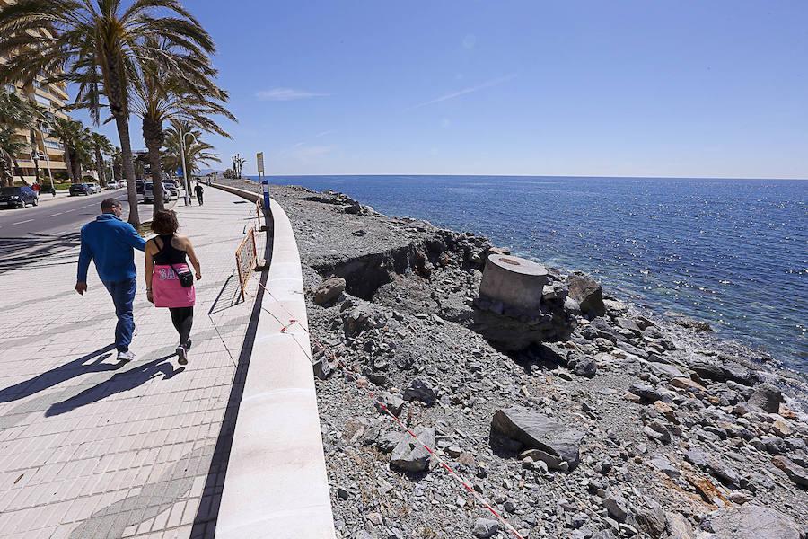 Ayuda urgente para las playas de Granada destrozadas por el temporal