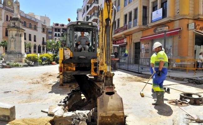 Obras para mejorar la red de saneamiento en San Francisco