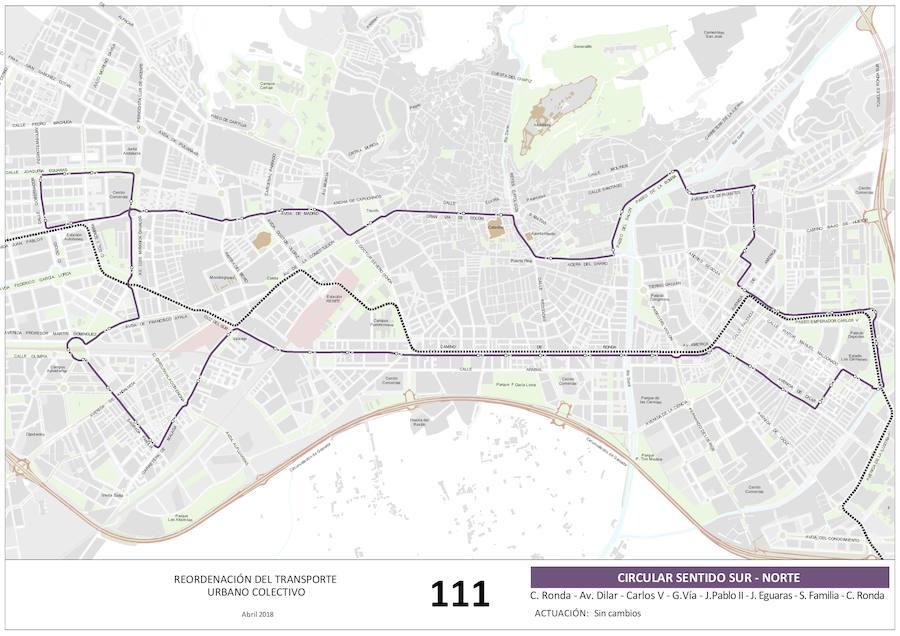 Estas son las nuevas propuestas para las líneas del bus urbano en Granada