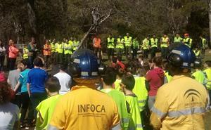 La Junta muestra a unos 500 alumnos las tareas de restauración tras el incendio de Segura de la Sierra