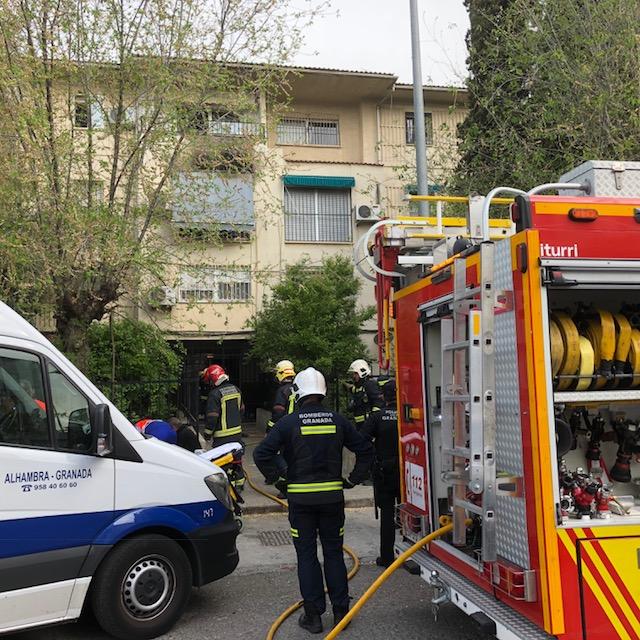 Fuego en la calle Sultán Yusuf I