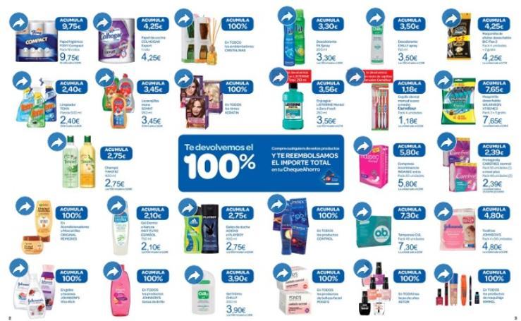 Carrefour ofrece una posibilidad de reembolso del 100 por cien en todos estos productos