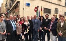 El alcalde descubre una placa dedicada a Jesús del Gran Poder