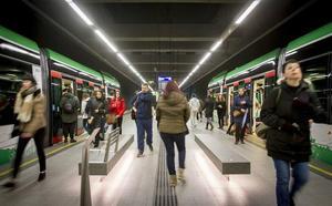 El metro de Granada refuerza su dispositivo de seguridad y vigilancia