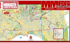 Todas las calles que se cortarán al tráfico este sábado por la Media Maratón de Granada