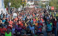Dalal Abdelfattah y Wafiya Benali ganan la Media Maratón de Granada