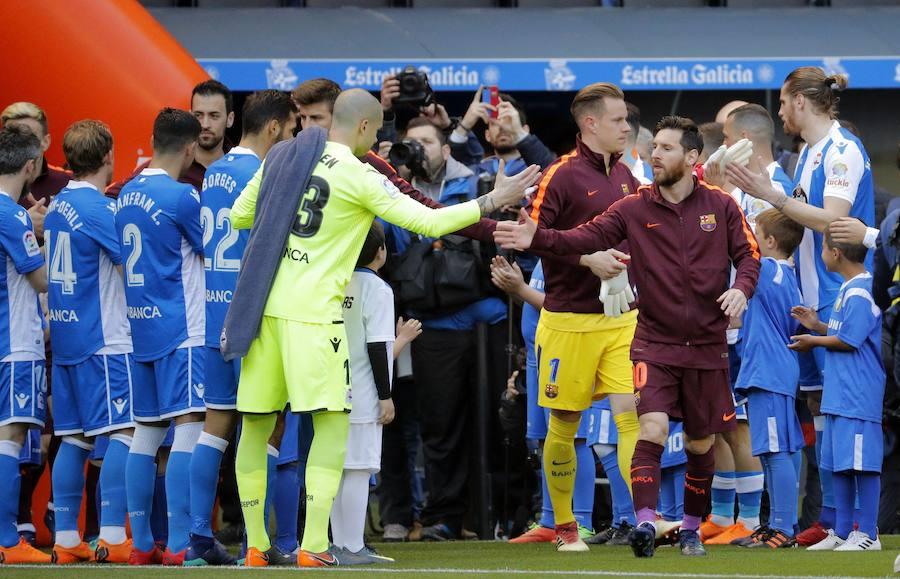 Las mejores imágenes del Deportivo-Barcelona