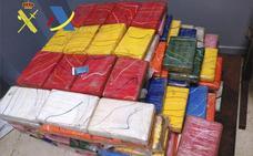 La cantidad de cocaína incautada en el Campo de Gibraltar este año iguala ya la de 2017