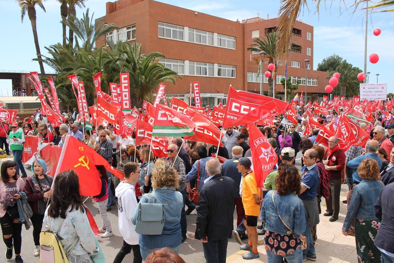 Marcha reivindicativa del 1 de mayo en Almería