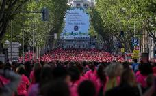 35.000 mujeres corren en las calles de Madrid contra la violencia machista