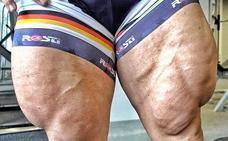 El ciclista que en lugar de piernas tiene 'jamones'