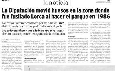 la verdad sobre la teoría de Los huesos del parque García Lorca que se movieron en sacos