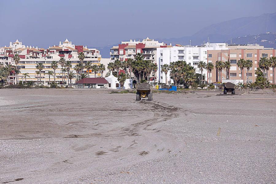 Obras de regeneración de Playa Granada