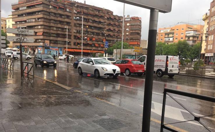 La tormenta que ha sacudido Granada este miércoles
