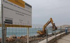 La escollera del paseo Reina Sofía de Almuñécar estará terminada antes del verano