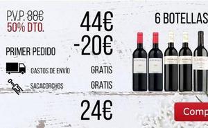 'Ofertón' en vino: 6 botellas Reserva y un sacacorchos de regalo por 24 euros