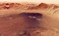 Espectaculares imágenes de un gran cráter en Marte