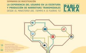 Pablo Lara, productor y guionista del Ministerio del Tiempo, impartirá una conferencia en la UGR