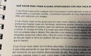 Los machistas consejos de la Federación Argentina para ligar con chicas rusas en el Mundial de fútbol