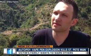 La trágica muerte de un hombre al explotarle el cigarrillo electrónico