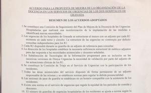 Fin a la huelga de los MIR en las urgencias hospitalarias de Granada
