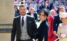 Beckham eclipsa al novio en la boda real británica