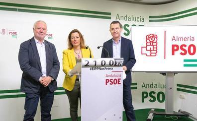 El PSOE aprieta a PP y Cs para que saquen a Almería del vagón de cola en los presupuestos generales