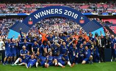 Hazard permite al Chelsea ganar su octava FA Cup