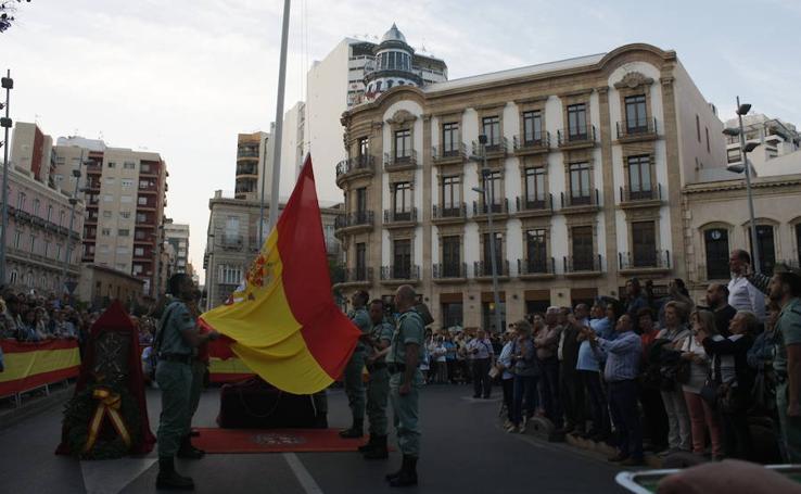 Almería, con la Bandera de España