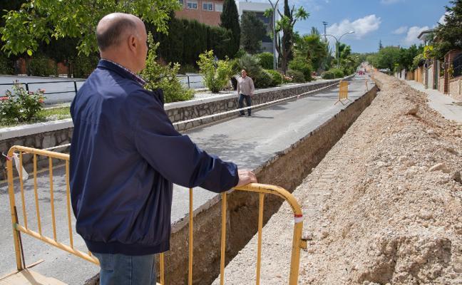 Las obras en la macrozanja de Monachil se retomarán hoy, confirma la empresa