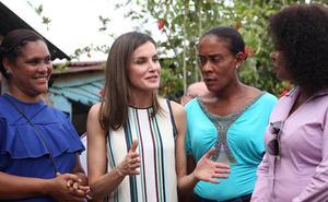 El resbalón de la reina Letizia en su viaje a República Dominicana se hace viral
