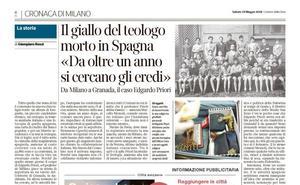 La prensa italiana también busca a los familiares de Edgardo