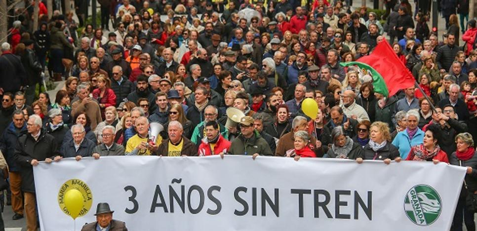 La Mesa del Ferrocarril comparte «el enfado ante el agravio del Gobierno central con Granada»