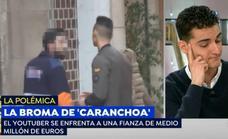 Mr. Gran Bomba, el youtuber del 'caranchoa', rompe a llorar en pleno directo de Espejo Público