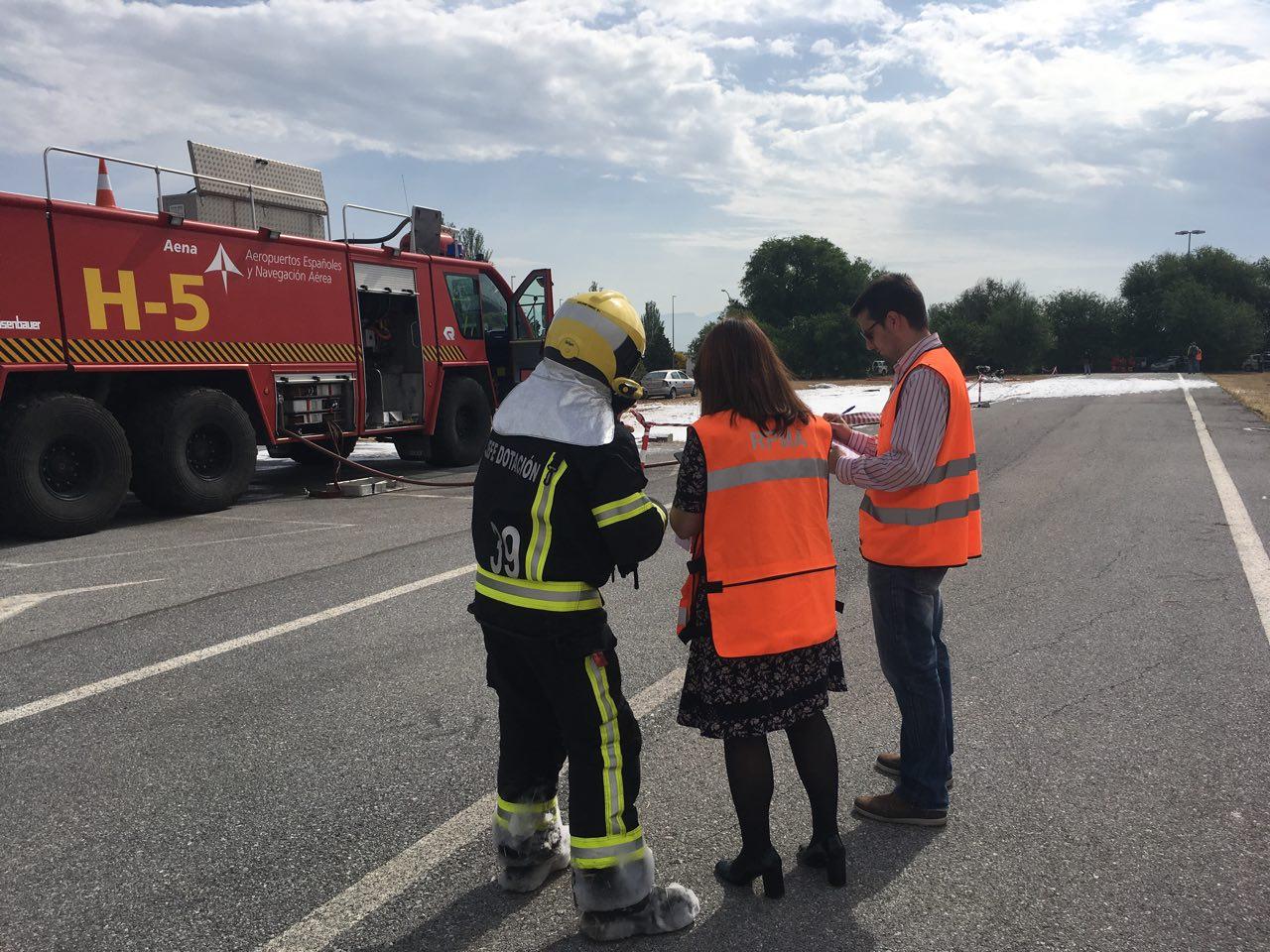 Simulacro de accidente aéreo en el aeropuerto de Granada