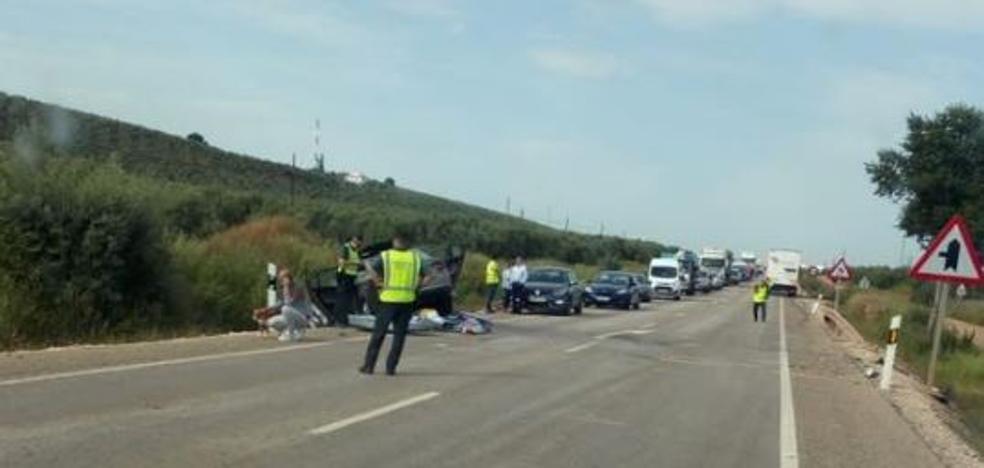 Una mujer herida en un nuevo accidente en la N-322 en Jaén