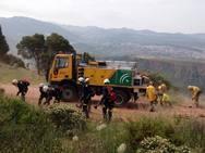 Simulacro de incendio forestal en Cenes de la Vega