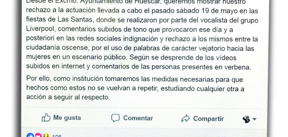 Polémica por los comentarios «soeces» del vocalista de una orquesta en Huéscar