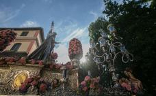 Procesión de María Auxiliadora entre la Alhambra y el Realejo