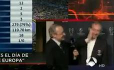 El 'manotazo' amistoso de Florentino Pérez a Pedrerol por sus preguntas: «Qué pesado...»