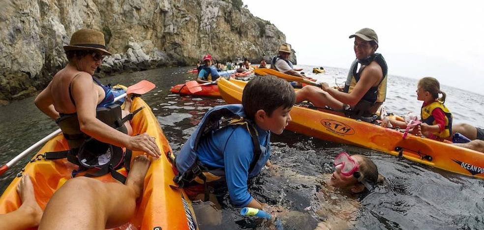 Snorkel y ruta en kayak y en barco este fin de semana en el Cabo de Gata