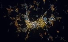 Las mágicas imágenes de Granada de noche vistas desde el espacio